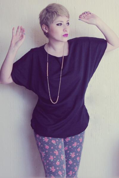 LOB jeans - DIY blouse - vintage necklace