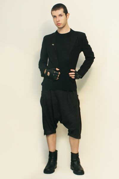 shirt - Npfeel jacket - pants - boots - gloves - Placebo pin accessories
