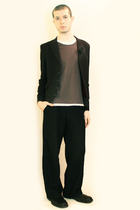 black Npfeel jacket - black Misty Boy Harajuku pants - gray Hanjiro t-shirt - bl