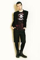 black Npfeel jacket - black vivienne westwood t-shirt - black Deepstyle pants -