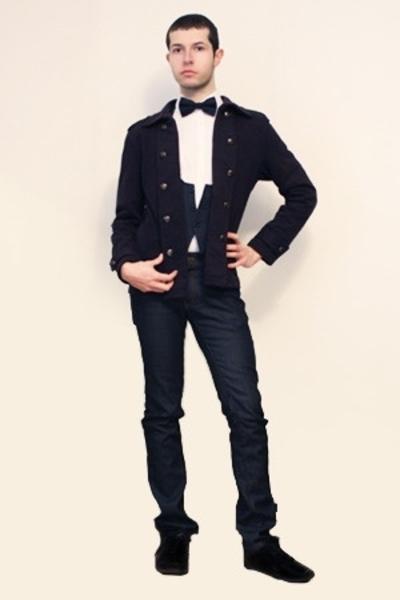 Misaky shirt - Hanjiro vest - From Harajuku Tokyo jacket - Zara pants - Sisley t