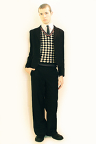 white Misaky shirt - black vintage from Paris vest - black Npfeel jacket - black