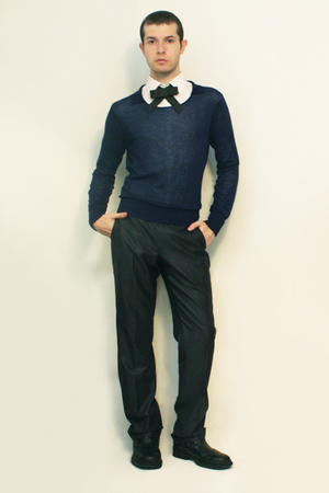 Misaky shirt - Zara sweater - Handamade Esty tie - Zara pants - shoes