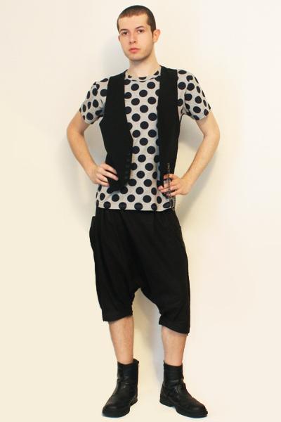 Comme des Garcons for H&M t-shirt - Sisley vest - pants - boots