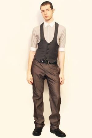 Hanjiro shirt - Harajuku Tokyo vest - Zara pants - belt - shoes