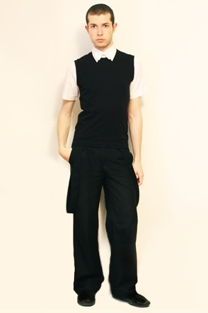 Zara shirt - vest - Misty Boy Harajuku Tokyo pants - tie
