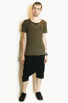 green Zara t-shirt - black Deepstyle pants - black H&M shoes - silver Topman nec