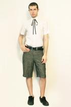 Zara shirt - Hanjiro tie - shorts - belt - shoes