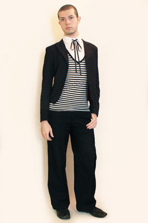 Npfeel jacket - Npfeel t-shirt - Hanjiro tie - Misty Boy Harajuku pants