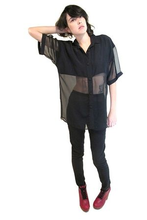 black YO VINTAGE blouse