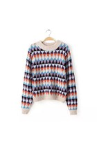 Casual pattern round neck long-sleeved pullover sweater ghl2977