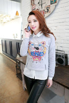 casual unique fashion sweater top lion head logo print GHL0006