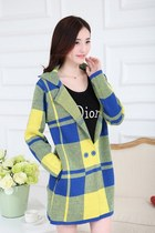 Korean Loose Fit Cotton Plaid Coat YRB0285