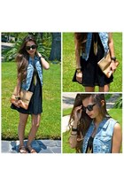 navy denim vest Love Culture vest - black haus131 Haus131 dress