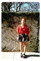 vintage sweater - f21 skirt
