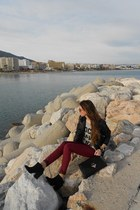 Stradivarius jacket - Bershka boots - Bimba&Lola bag - suiteblanco pants