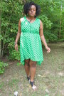 Green-green-fishtail-dress-black-kimchi-blue-heels