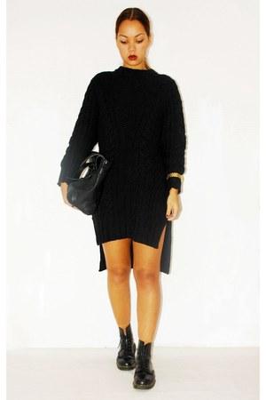 H&M sweater - doc martens shoes - Zara bag