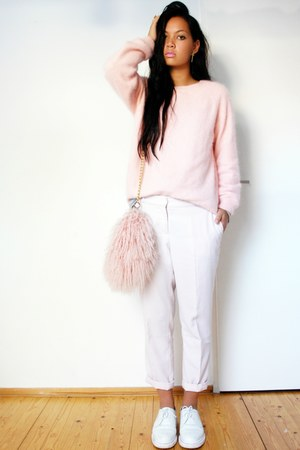 H&amp;M sweater - docmartens shoes - River Island bag - pants pants