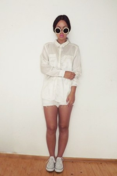 DIY blouse - DIY sunglasses - DIY pants