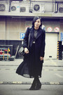 Black-zara-coat-black-white-striped-jaket-sweater-black-bag-white-baby-jan