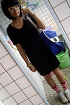 TH dress - TH purse - Izzue socks - adidas origianl shoes