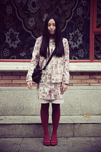 brick red wingfree dress - brick red wingfree jacket - brick red tb wedges