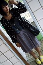 H&M jacket - nlgirl t-shirt - j-honey vest -  skirt - Mango purse - bambini shoe