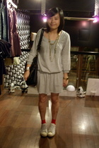 workshop weekend dress - socks - adidas original shoes - dizen de brand purse