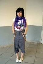 H&M scarf - necklace - t-shirt -  pants -  accessories - NANING9 shoes