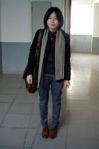 CENTURYBADENC coat - jacky scarf - banana republic sweater - pants -  purse - NA