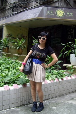 ODF t-shirt - twopercent belt - Converse shoes - sunglasses
