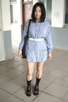FIRST MING shirt - Baby Jane belt - Mango - Uniqlo socks - PEINK shoes