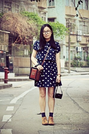 navy cotton on dress