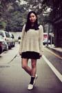 Off-white-sweater-black-united-colors-of-benetton-shirt-dark-gray-socks