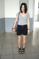 giordano blouse - j-honey shorts - twopercent - TH bracelet - bracelet - PEINK s