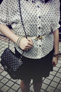 Navy-h-m-dress-black-bag-white-polka-dots-socks-cream-h-m-sunglasses