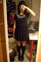 hat - Uniqlo t-shirt - twopercent skirt - shoes