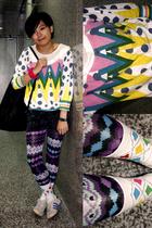 dari t-shirt - shorts - NARA2 leggings - united colors of benetton purse - bambi