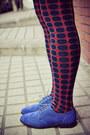 Blue-anna-sui-for-hushpuppies-shoes-orange-tweed-vintage-jacket