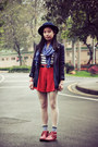 Ruby-red-hushpuppies-boots-navy-asos-hat-navy-mcqueen-blazer