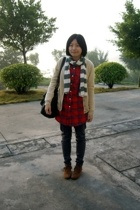 lisamina coat - scarf - shirt - pants - dizen de brand purse - shoes