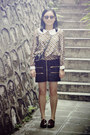 Shoes-h-m-sunglasses-leeloo-blouse-checked-twopercent-skirt