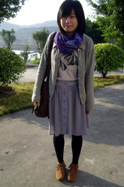 shirt - coat -  skirt - H&M scarf - shoes -  purse