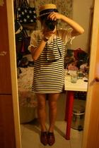 hat - dress - NANING9 shoes