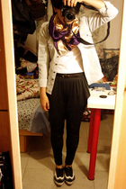 MOSI scarf - Sie Y shirt - Zara t-shirt - belt - pants - Giordano Concepts shoes