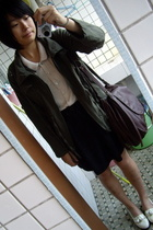 NANING9 coat - shirt - skirt -  purse - NANING9 shoes