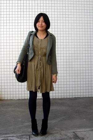 ozoc coat - dress - dizen de brand purse - NANING9 shoes