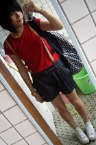 Zara t-shirt - shorts - Converse shoes - Bag purse