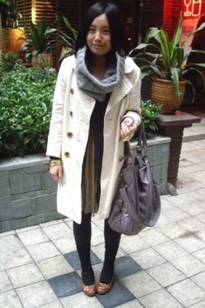 JCrew coat - twopercent scarf - lisamina - dress - twopercent - CnE shoes